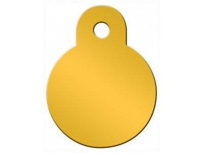 Товар почтой Жетон для собак Адресники круг малый, желтый