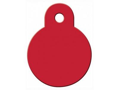 Товар почтой Жетон для собак Адресники круг малый, красный