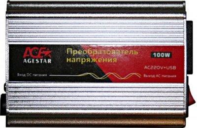 Товар почтой AgeStar as-in100 автомобильный преобразователь напряжения 12 В-220 В, 100 Вт