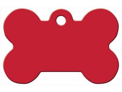 Товар почтой Жетон для собак Адресники косточка, красная