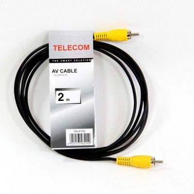 """Товар почтой Кабель 1 x RCA """"тюльпан"""", 2.0m, Telecom (TAV4158-2M)"""