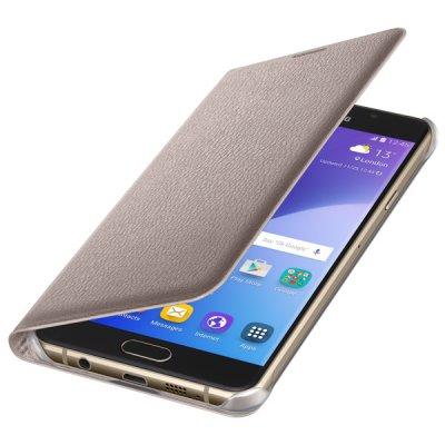 Товар почтой Чехол для сотового телефона Samsung Flip Wallet A7 2016 Gold (EF-WA710PFEGRU)
