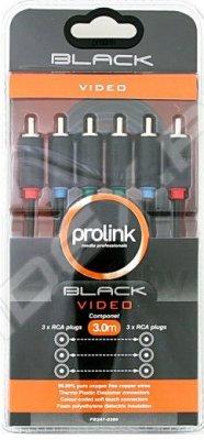 Товар почтой Кабель 3xRCA (m) - 3xRCA (m) 3 м (Prolink PB247-0300) (черный)