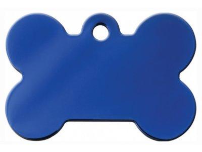 Товар почтой Жетон для собак Адресники косточка, синяя