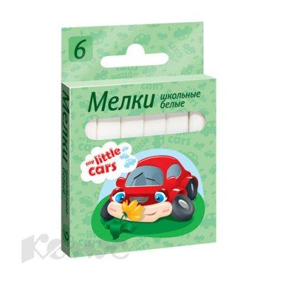 Товар почтой Мел №1School,My Little Cars,6 шт,белый,евр.подв,ср.тверд.