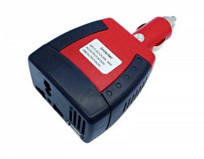 Товар почтой Автоинвертор Rexant 202-007-1 75W (75 Вт) преобразователь с 12 В на 220 В