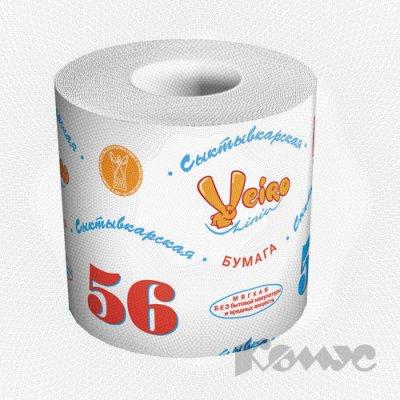 Товар почтой Бумага туалетная 56 метров (1-слойная, белая)