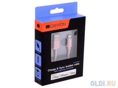 Товар почтой Кабель Apple Lightning/USB 1.2 м Canyon CNS-MFIC3RG розовое золото (MFI)