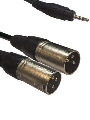 Товар почтой Кабель American Dj 3.5 Jack/M Stereo - 2xXLR M 1.5m AC-J3S-2XM/1.5