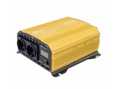 Товар почтой Инвертор Ritmix RPI-6102 Pure Sine Yellow с 12 В на 220 В