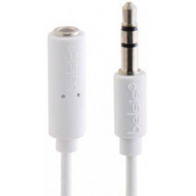 Товар почтой Кабель 3.5M/3.5F 1.5 м Belsis BGL1106 удлинитель аудио, 3,5 мм (3 pin) jack(папа)/plug(мама), белый
