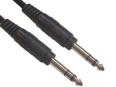 Товар почтой Кабель American Dj 6.3 Jack/M Stereo - 6.3 Jack/M Stereo 1.5m AC-J6S/1.5