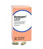 Товар почтой VETMEDIN ветмедин 1,25 мг 100 таб. 1,25 мг