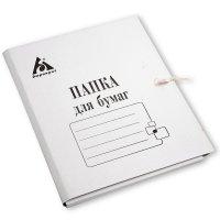 Товар почтой Папка для бумаг на завязках 0.6 мм мелованная белая (-PZ320M)