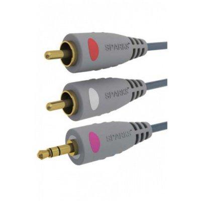 Товар почтой Кабель 3.5St.plug - 2xRCA(m) 1.8 м Sparks ( SG1136 )