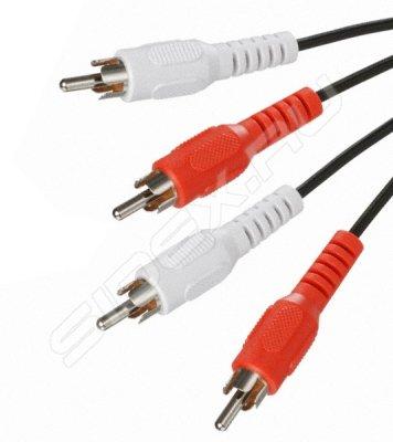 Товар почтой Кабель 2 х RCA (M) - 2 х RCA (M) (5bites AC2R-010M)
