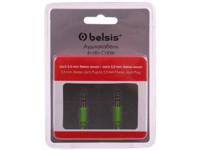 Товар почтой Кабель 3.5M/3.5M 1.5 м Belsis BGL1105 аудио, 3,5 мм (3 pin) jack/jack (папа), зеленый