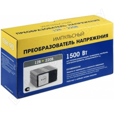 Товар почтой Преобразователь напряжения 12-220 В, 1500 Вт Оригинальный Орион ПН-90 5024