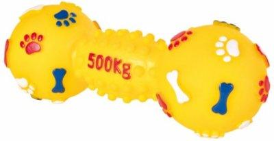 """Товар почтой Trixie гр Игрушка д/собак Гантеля средняя """"500 кг"""", винил 19 см (3362)"""