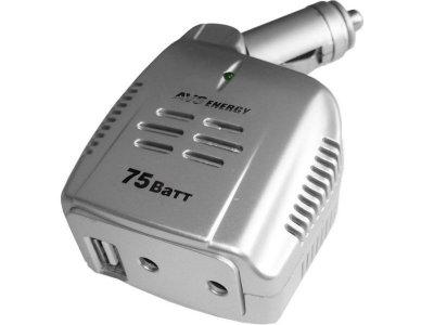 Товар почтой Автоинвертор AVS IN-75W (75 Вт) преобразователь с 12 В на 220 В A80680S