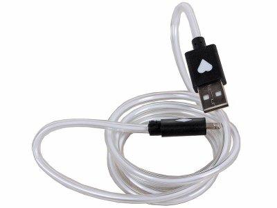 Товар почтой Кабель 3Cott 3C-CLDC-065BB-IP5, Apple Lightning MFI с подсветкой холодного оттенка, 1 м, черный