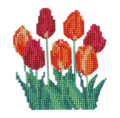 Товар почтой Бисеринка Тюльпаны для вышивания бисером Б-0061