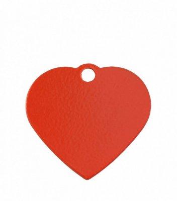 Товар почтой Жетон для ошейника сердце малое красное