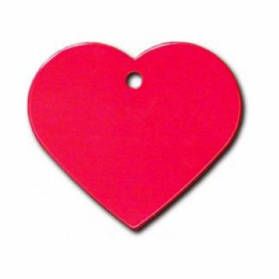 Товар почтой Жетон для ошейника сердце большое красное