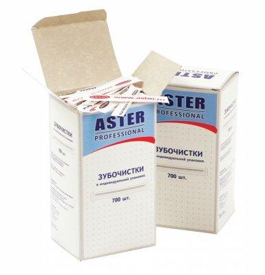 Товар почтой Зубочистки ASTER деревянные в индивидуальной бумажной упаковке, 700 шт./уп.
