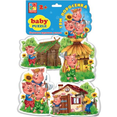 Товар почтой Игрушка Vladi Toys Baby puzzle Три поросенка VT1106-37
