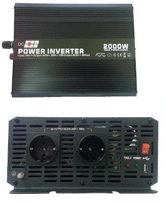 Товар почтой Автоинвертор DC Power DS-2000/12 2000W (2000 Вт) преобразователь с 12 В на 220 В