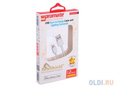 Товар почтой Кабель Apple Lightning/USB 1.2 м Promate linkMate-LT белый (MFI)