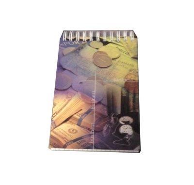 Товар почтой Блокнот А 6 60 л. клетка офсет, обл. мелованный картон, евроспираль сверху