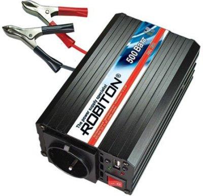 Товар почтой Robiton R500 автомобильный преобразователь напряжения 12 В-220 В, 500 Вт