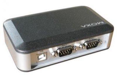 Товар почтой MOXA UPort 2210 Преобразователь 2-портовый USB в RS-232 в  пластиковом корпусе
