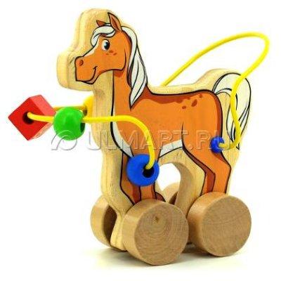 Товар почтой Игрушка деревянная МДИ Лабиринт-каталка Лошадь