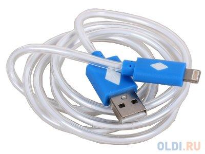 Товар почтой Кабель 3Cott 3C-CLDC-065BBL-IP5, Apple Lightning MFI с подсветкой холодного оттенка, 1 м, синий