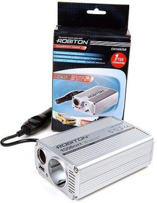 Товар почтой Robiton CN150USB автомобильный преобразователь напряжения 12 В-220 В, 150 Вт, 1xUSB
