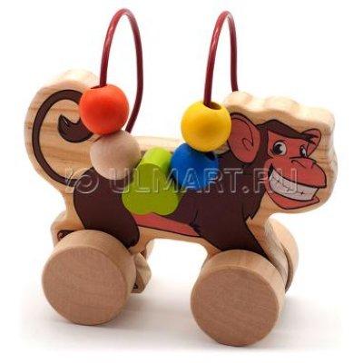 Товар почтой Игрушка деревянная МДИ Лабиринт-каталка Обезьяна
