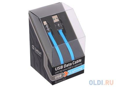 Товар почтой Кабель Apple Lightning/USB 1.0 м Zetton Flat плоский черный с синим (ZTLSUSBFCA8BB)