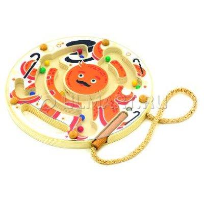 Товар почтой Игрушка деревянная МДИ Магнитный лабиринт Осьминог